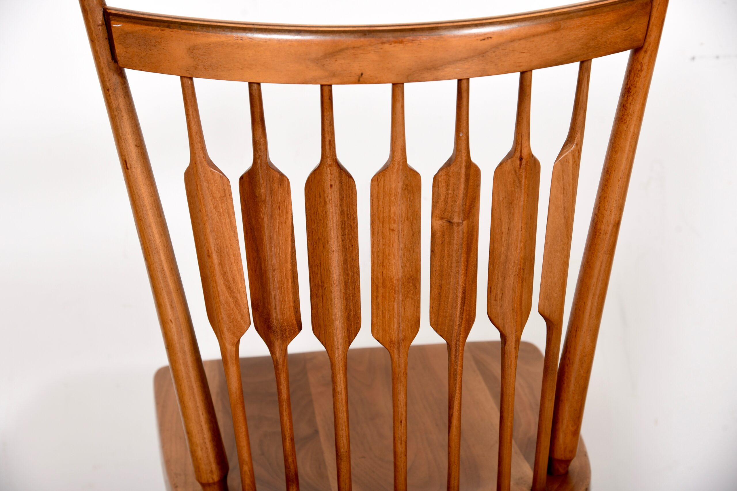 Set of 4 Mid-Century Drexel Organic-Curved Spindle-Back Dining Chairs