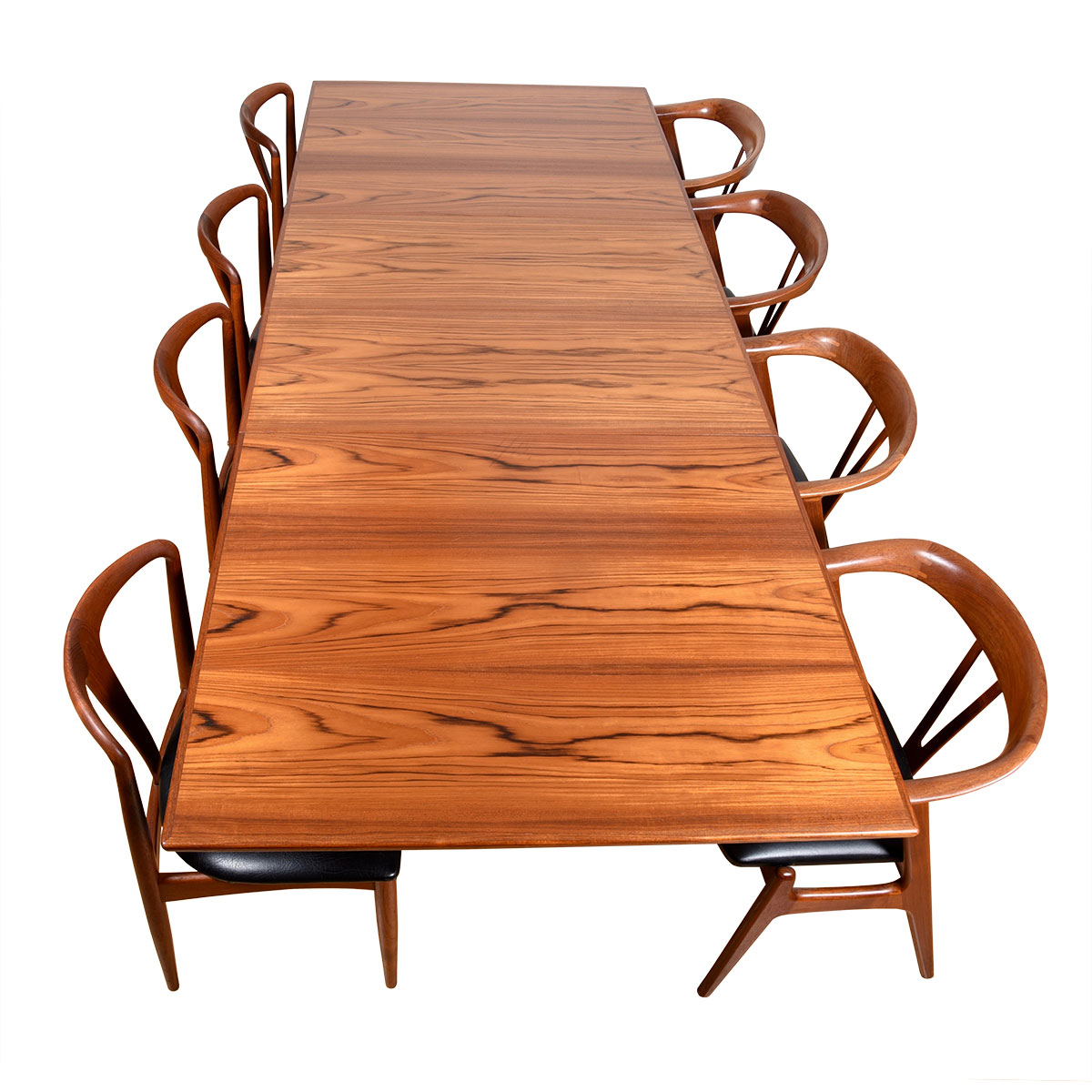 Folke Ohlsson Swedish Teak Expanding Dining Table by Dux, in Preserved Condition + Table Pads!