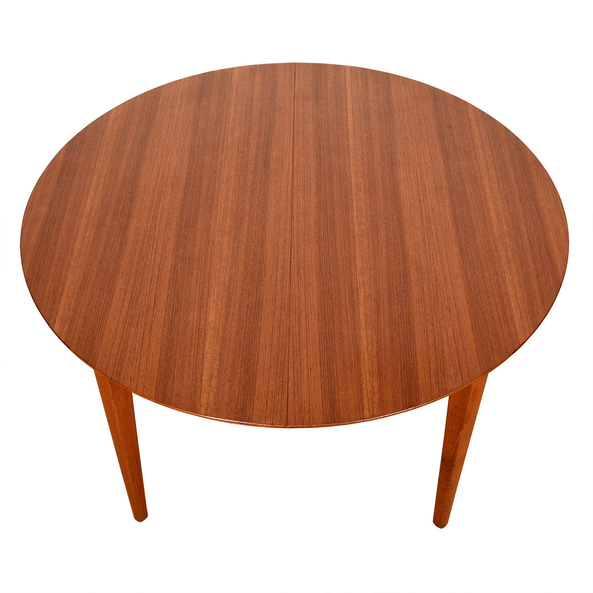 4 Leaves Round-to-Oval Danish Modern Teak Dining Table