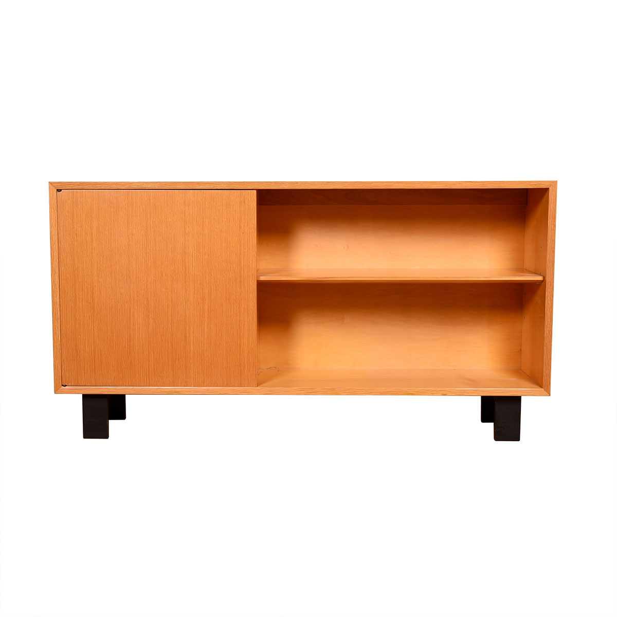 Slim MCM Low Bookcase w  Cabinet Door by George Nelson for Herman Miller 1950's