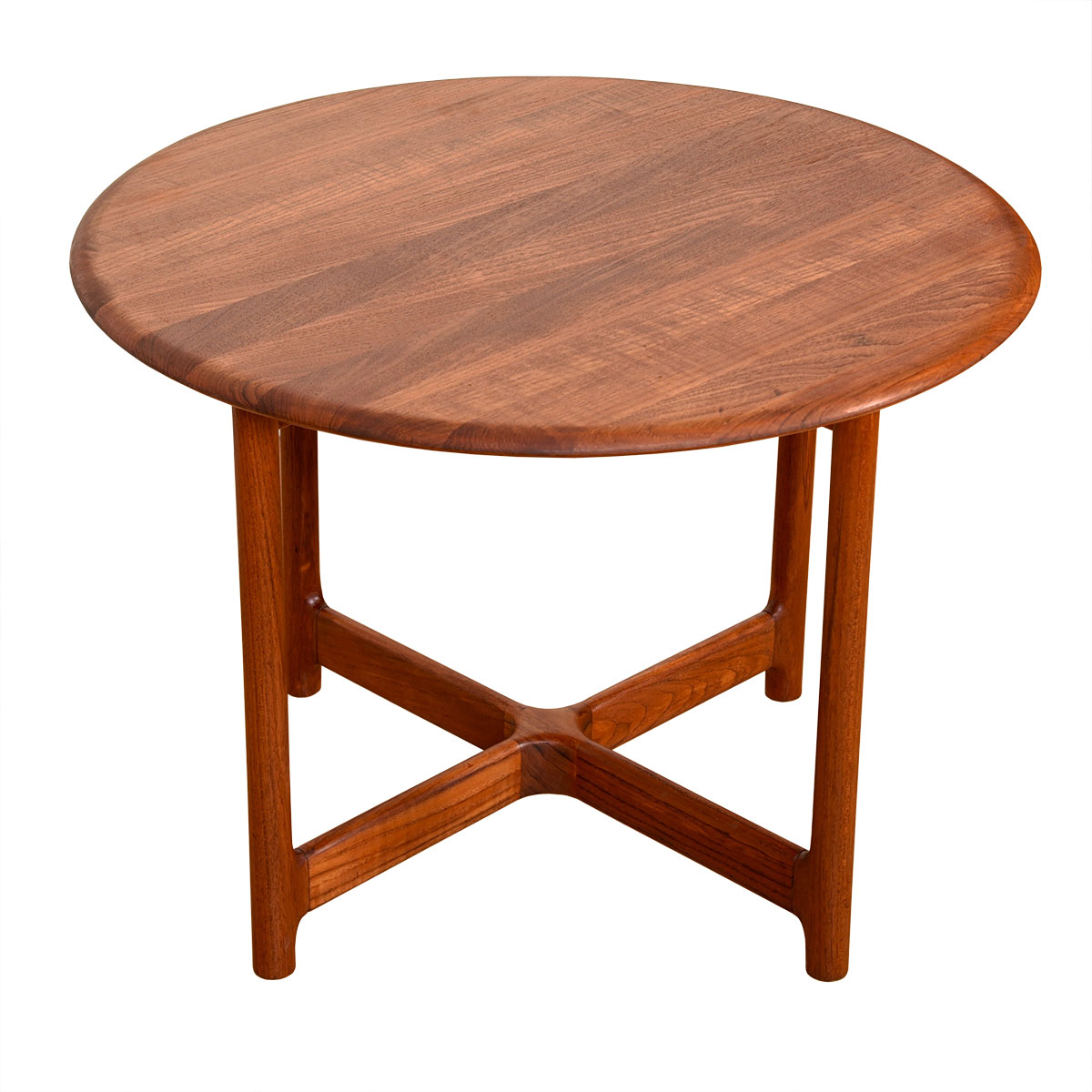 Danish Modern Solid-Teak Round Coffee   Accent Table
