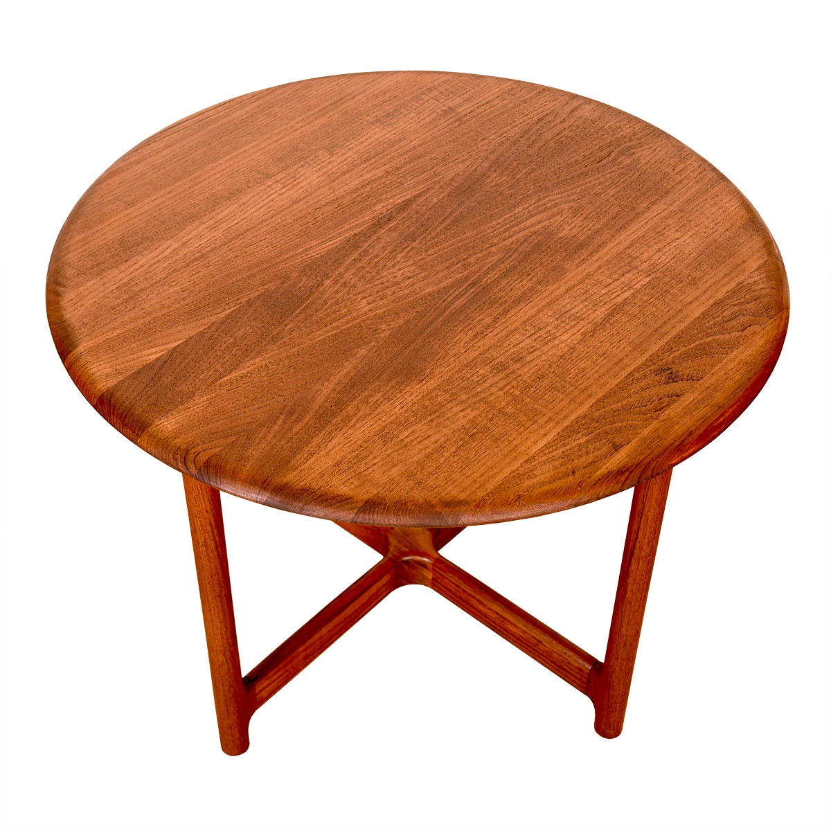 Danish Modern Solid-Teak Round Coffee | Accent Table