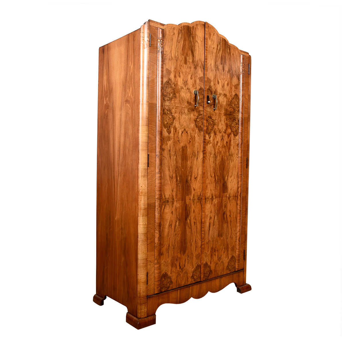 European Burled Wood Multifunctional Armoire / Storage Cabinet / Chest