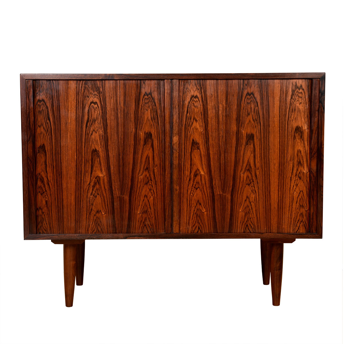 Danish Rosewood Compact Tambour Cabinet   Chest