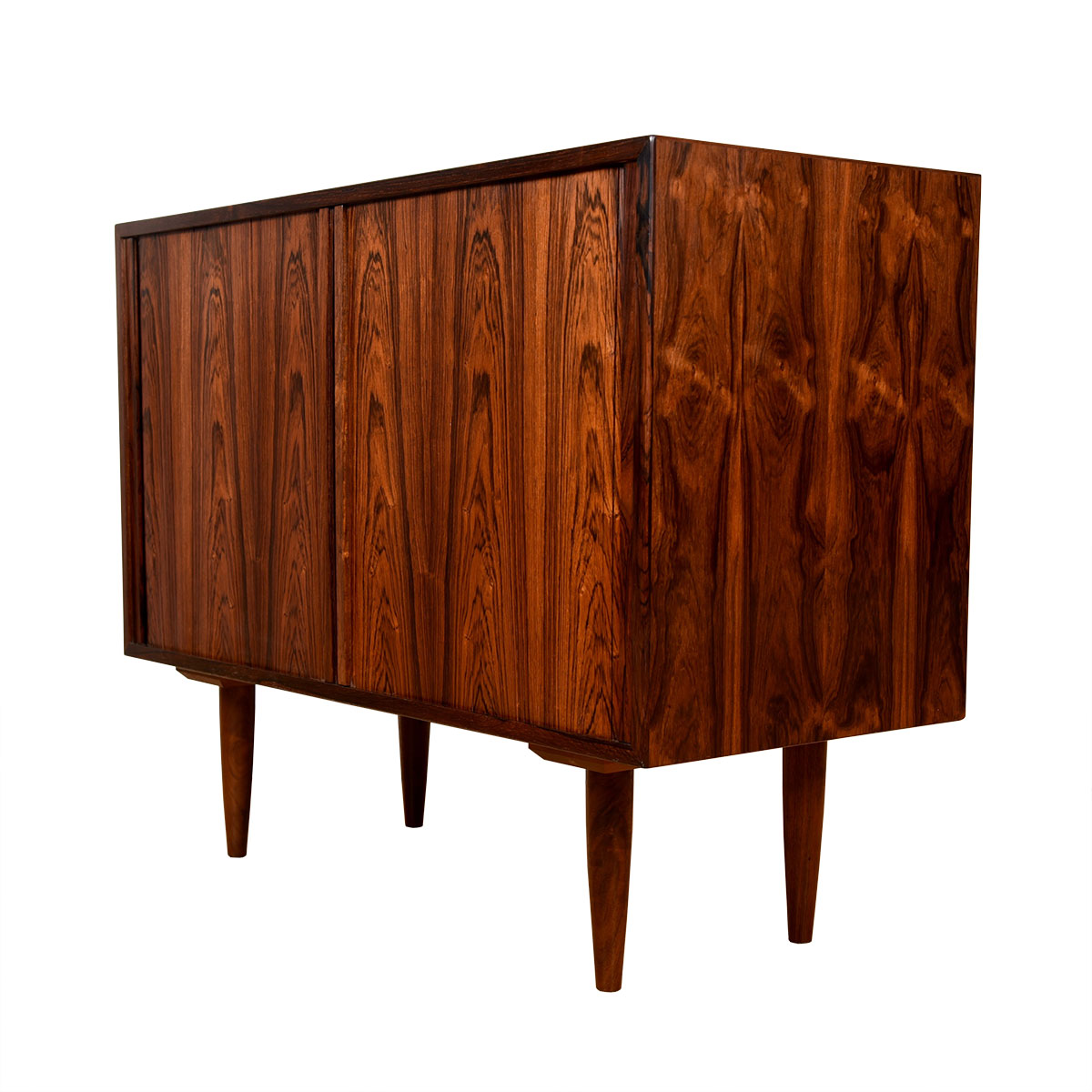 Danish Rosewood Compact Tambour Cabinet | Chest
