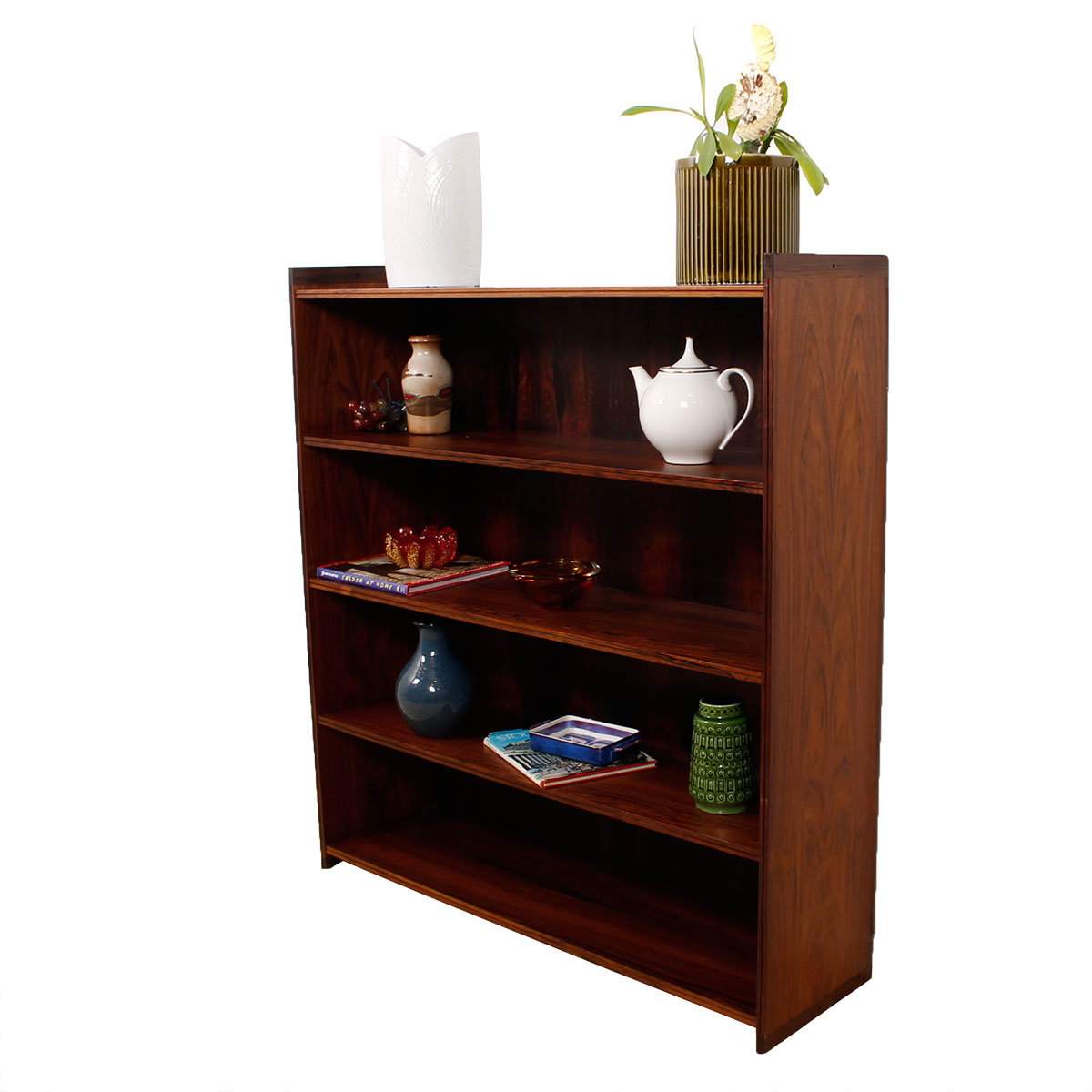 Royal Danish Embassy Compact Bookcase by Grete Jalk in Brazilian Rosewood