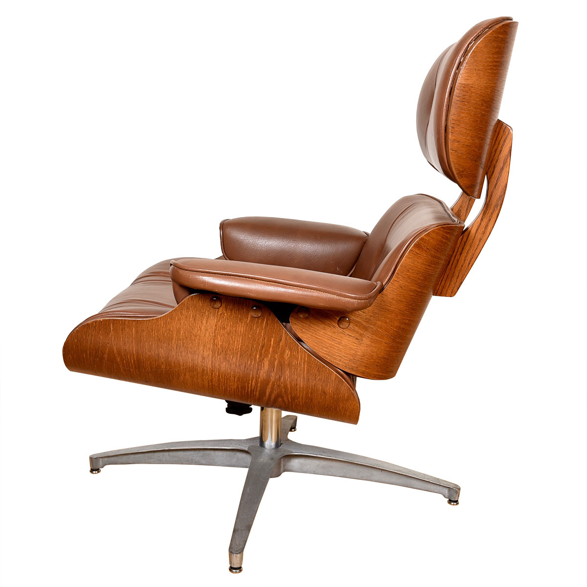 Mid Century Eames Style Lounge Chair + Ottoman