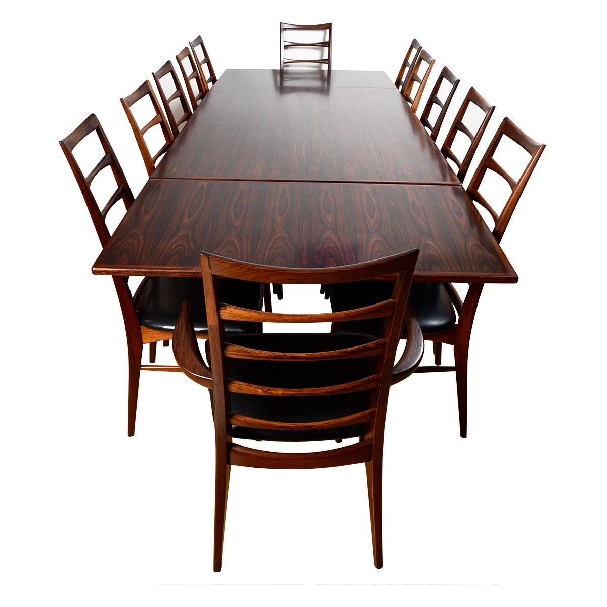 Danish Modern Rosewood Niels Otto Moller Expanding Dining Table
