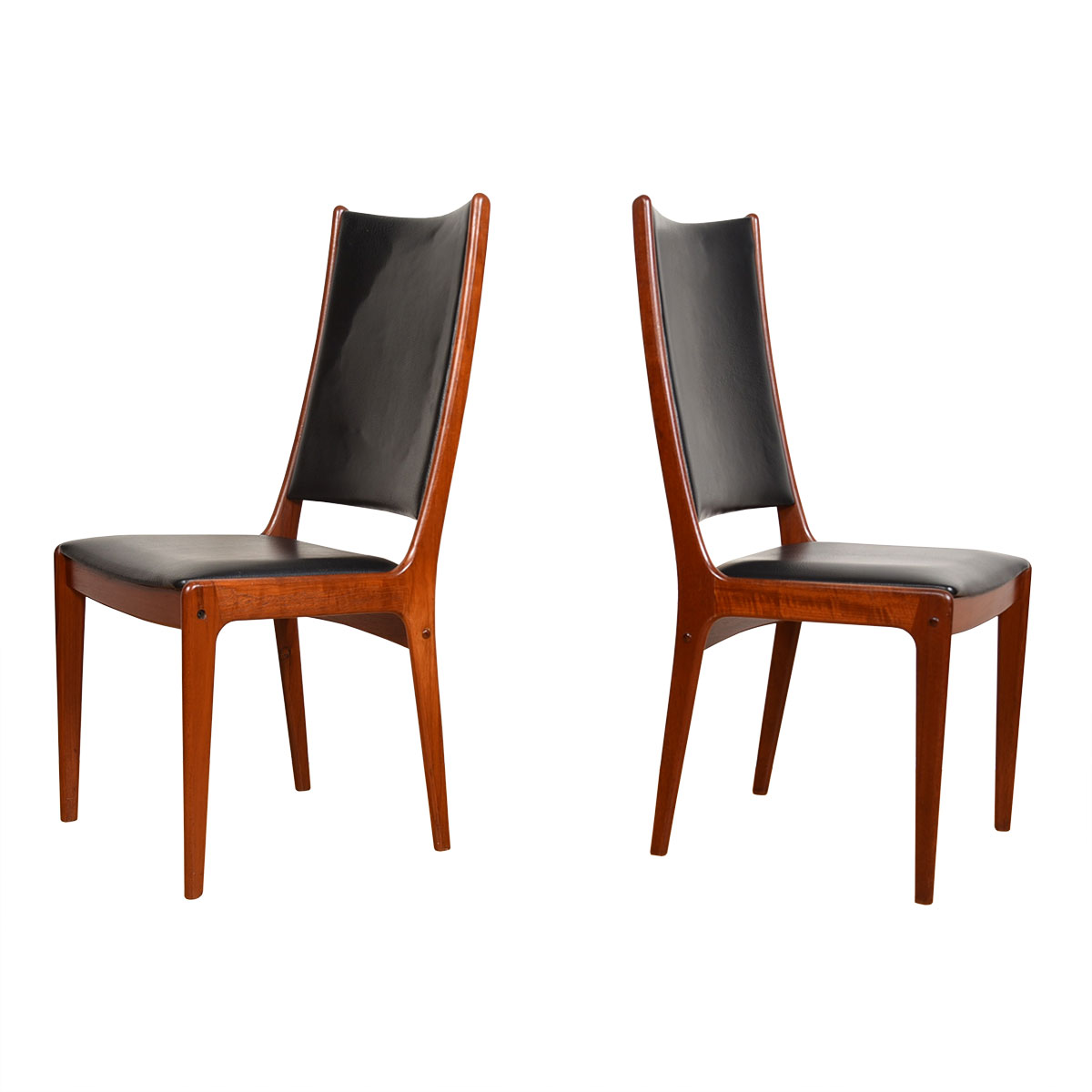 Pair of Extra Tall Teak Accent | Captain Dining Chairs