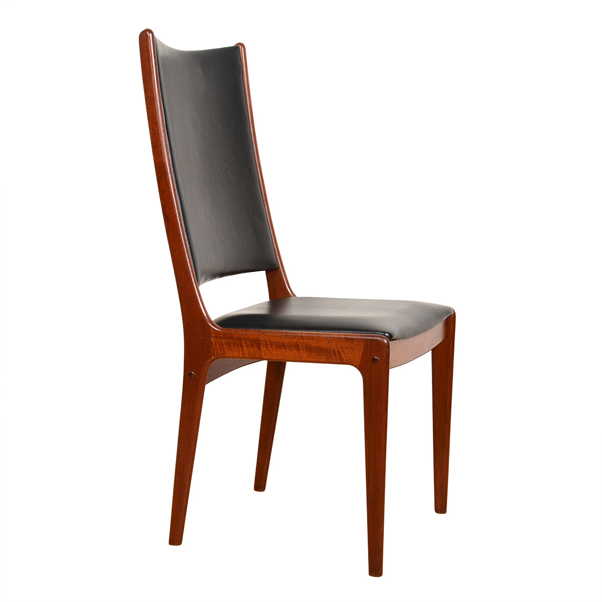 Pair of Extra Tall Teak Accent   Captain Dining Chairs