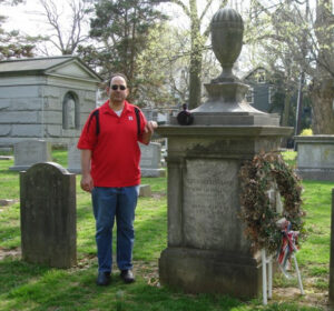 Dean at President Grover Cleveland grave