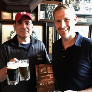 Dean and Rafe Bartholomew at McSorley's Old Ale House, NYC