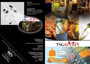 flyer design for both TSG kitchen and Frostbite