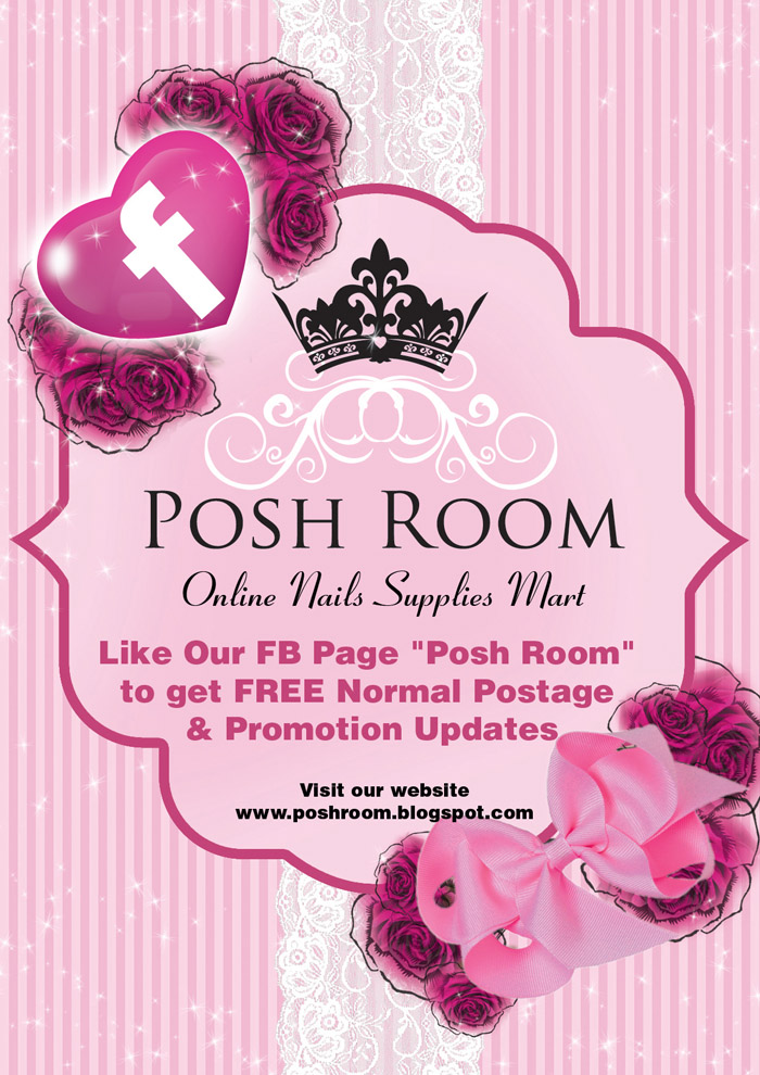 Poster design for Posh room an online shop