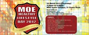 MOE healthy lifestyle banner design