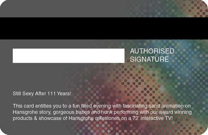 invitation design with credit card concept