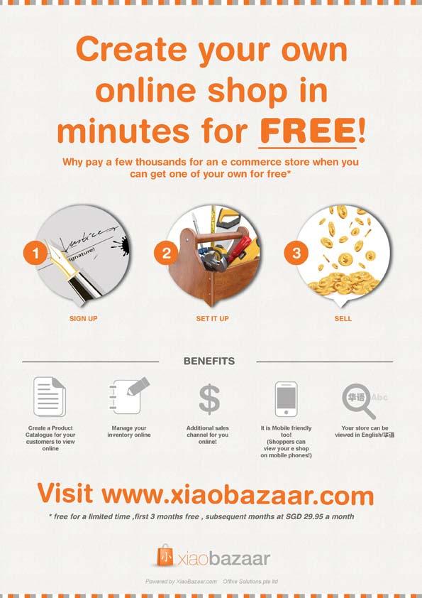 flyer design for xiao bazaar
