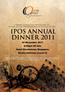 poster design for IPOS annual dinner