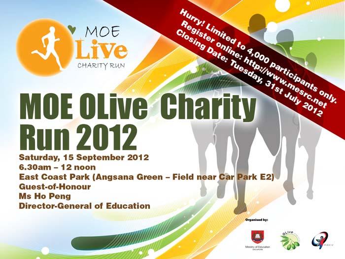 Banner design for MOE olive run