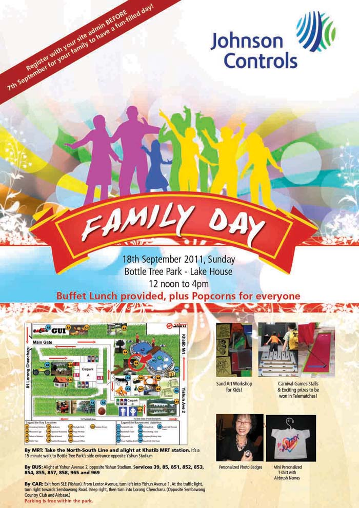 poster design for johnson control family day