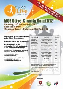 poster design for MOE Olive run