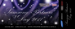 coupon design for sumsung D&D event