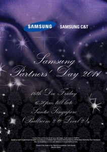 invitation design for sumsung D&D event