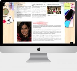 website design for never ending ideas