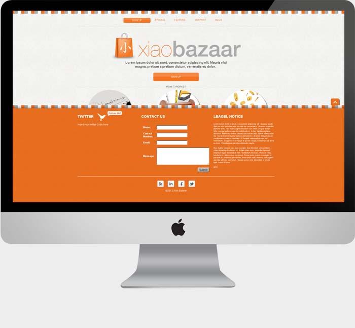 website design for xiao bazaar