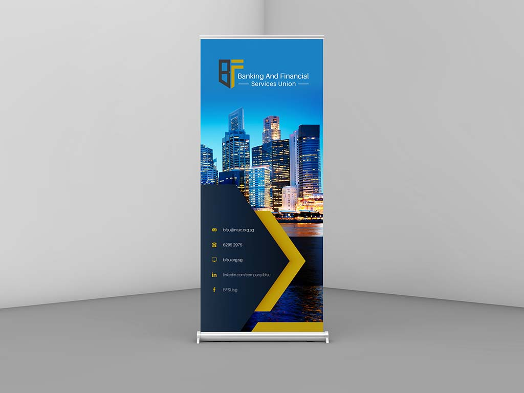 Pull up banner design for exhibition