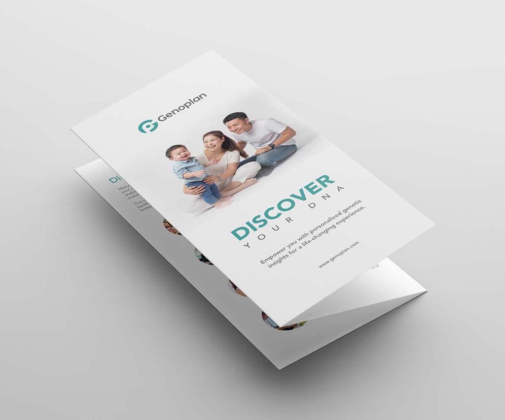 Trifold brochure design for geoplan singapore freelance designer