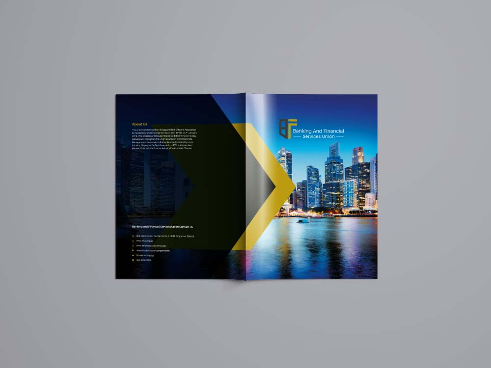 Brochure Design for exhibition cover and front