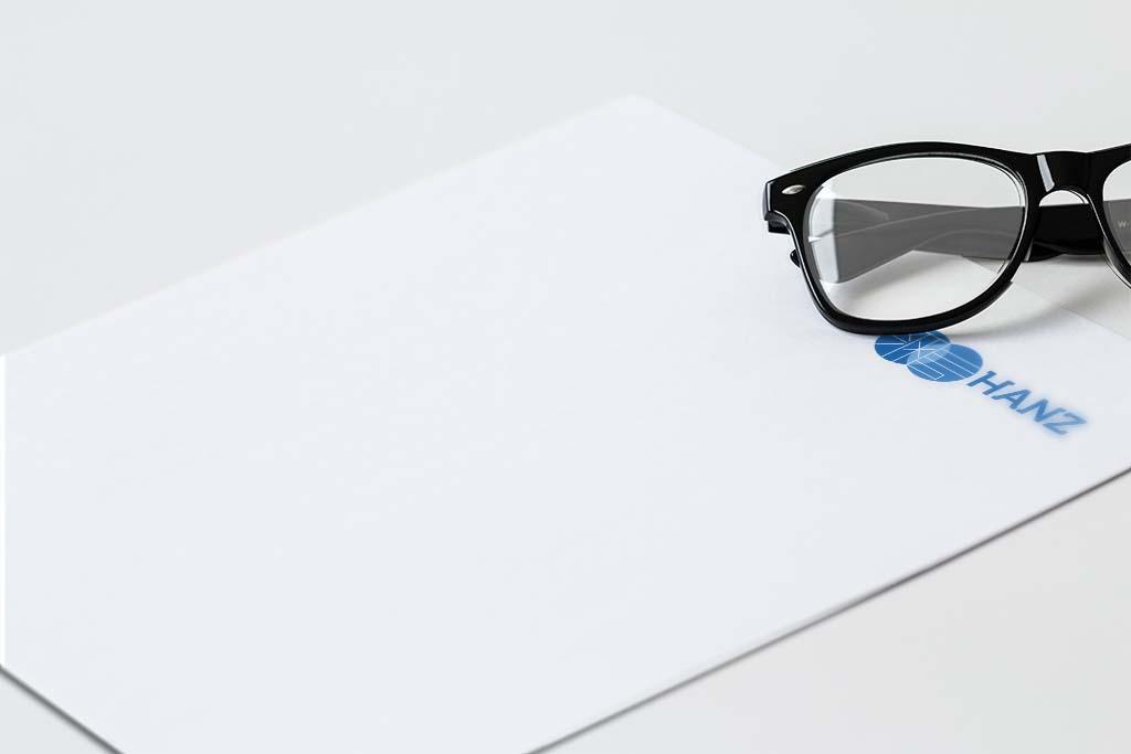 Letterhead design for hanz singapore freelance designer