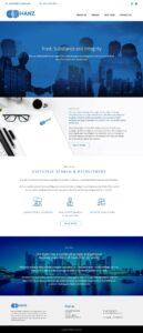 website design for hanz singapore freelance designer