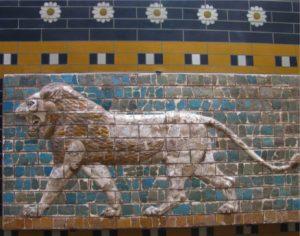 Lion, Neo-Babylonian glazed brick design