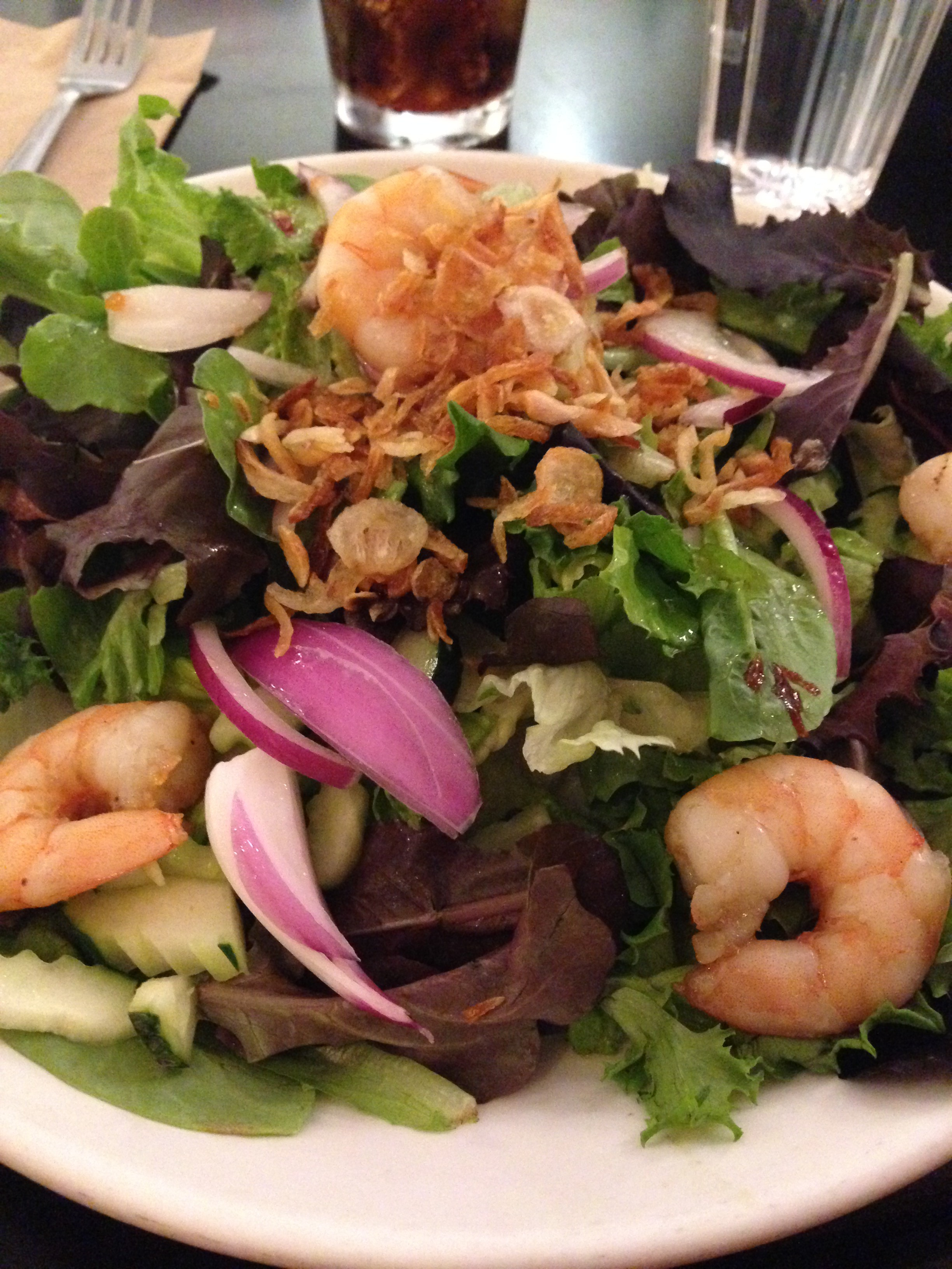 Grilled Shrimp Salad at Abricott in Pasadena