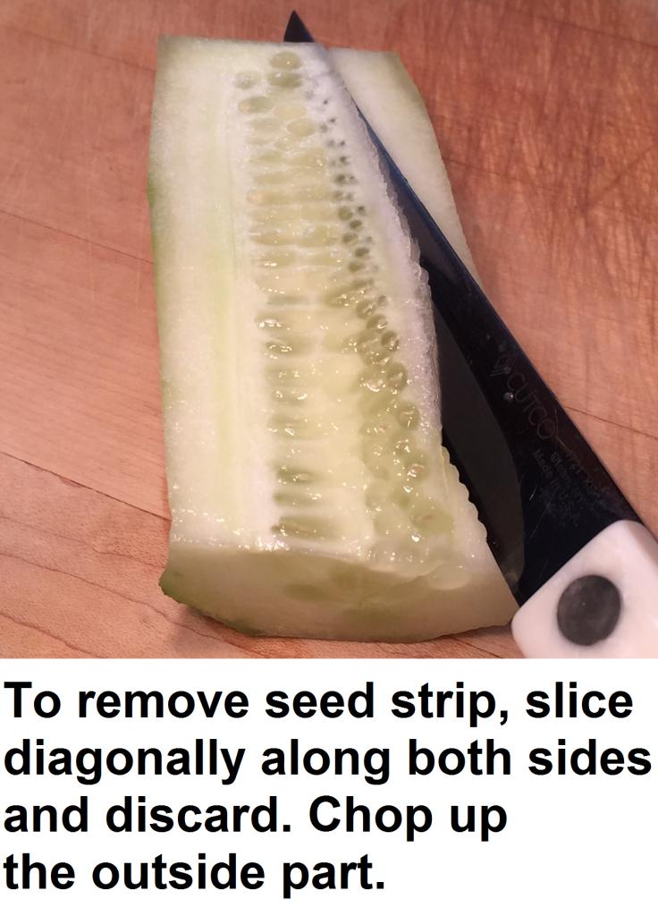 cucumber seed strip