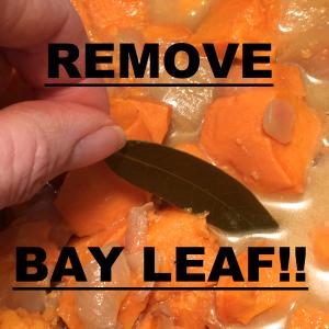 sweet pot soup remove bay leaf