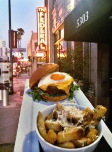 burger on street