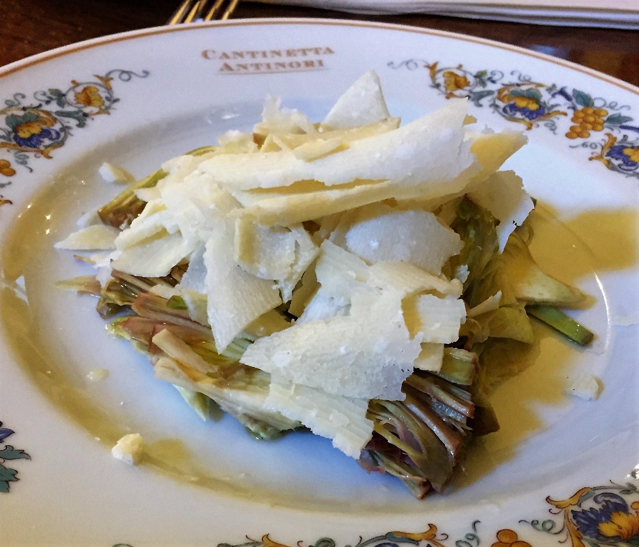 artichoke; parmesan; olive oil; florence; cantinetta antinori