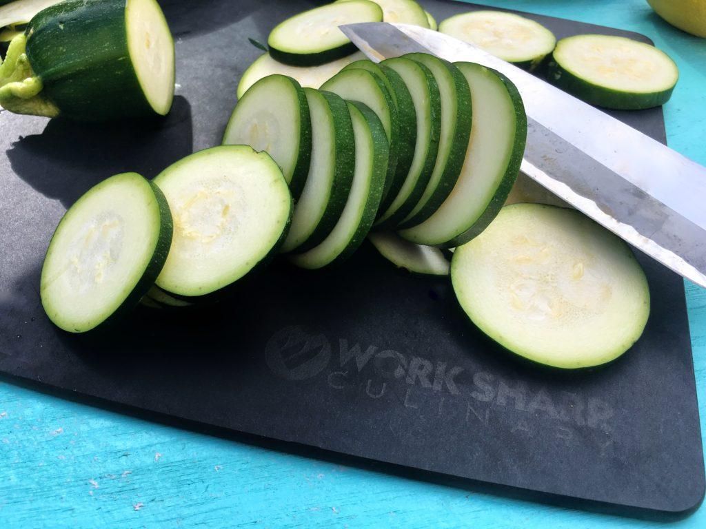 Worksharp zucchini slices