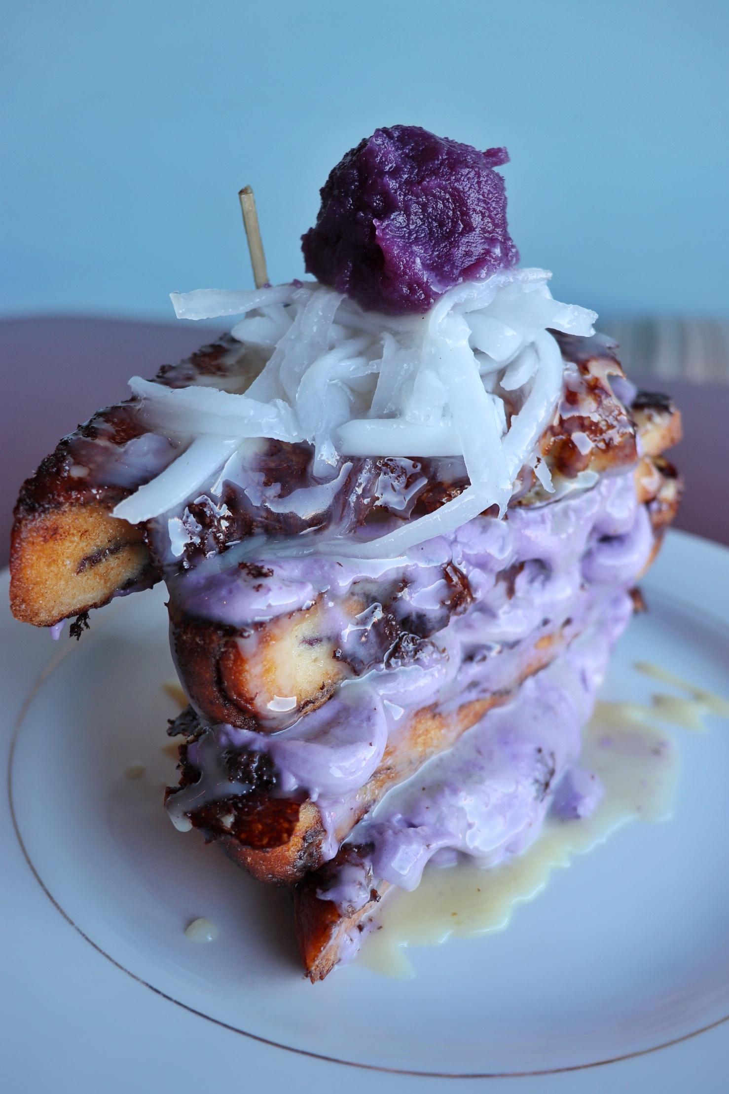 ube french toast truffles n bacon