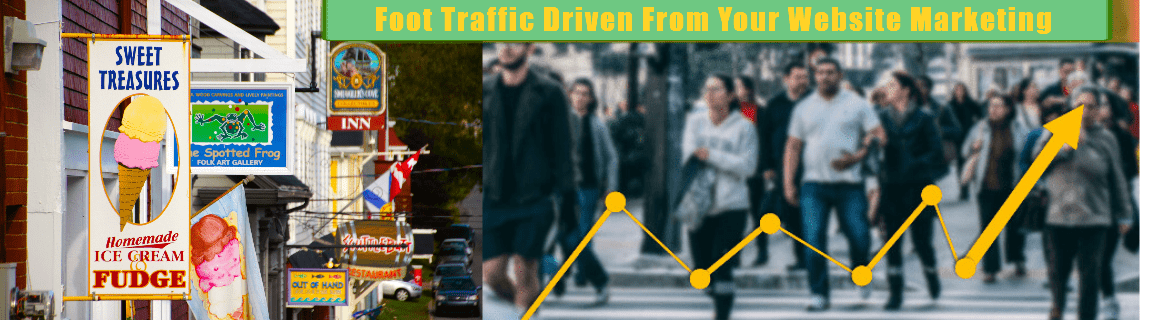 Webdesign iMarketing Solutions-About Us: FOOT TRAFFIC DRIVEN FROM YOUR WEBSITE MARKETING EXAMPLE
