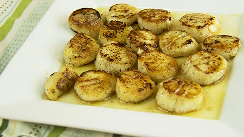 the Guy Cooks Pan Seared Sea Scallops