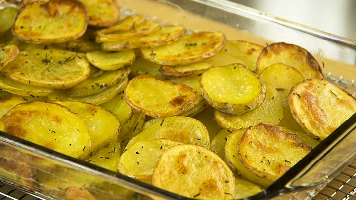 The Guy Cooks Rosemary Potatoes