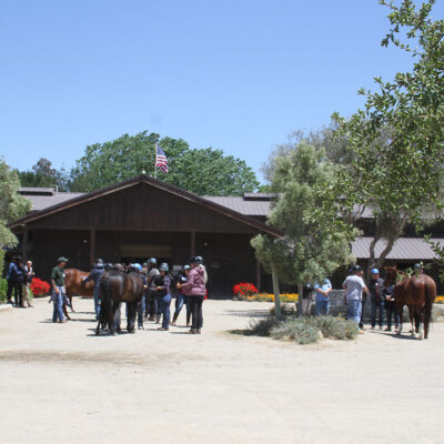 Monty Roberts' Horse Sense & Healing for Veterans at Flag Is Up Farms, Solvang, California - photo by June Tabor