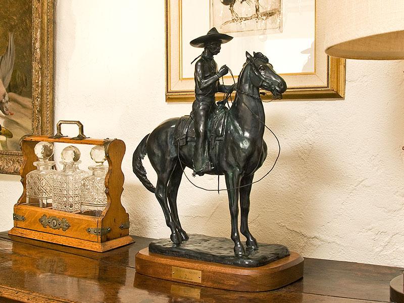 Mexican Vaquero - bronze horse sculptures by Pat Roberts