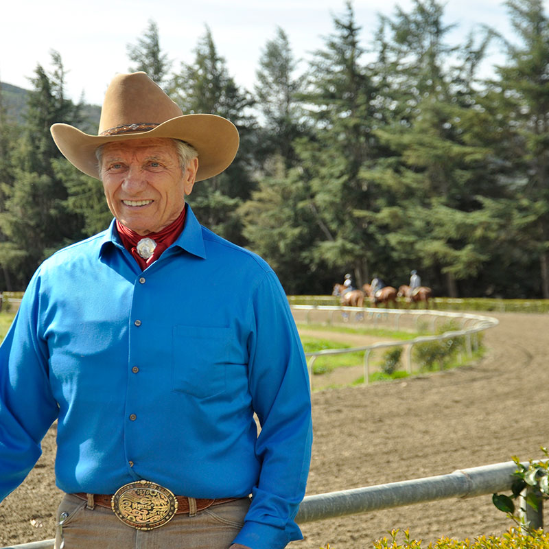 Monty Roberts Racehorse Training - Flag Is Up Farms
