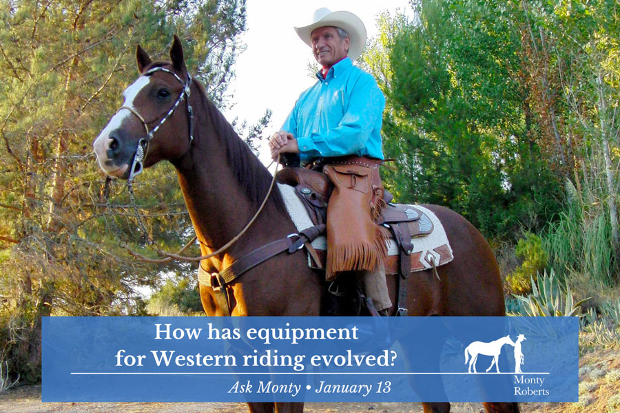 Ask Monty - How has equipment for Western riding evolved?