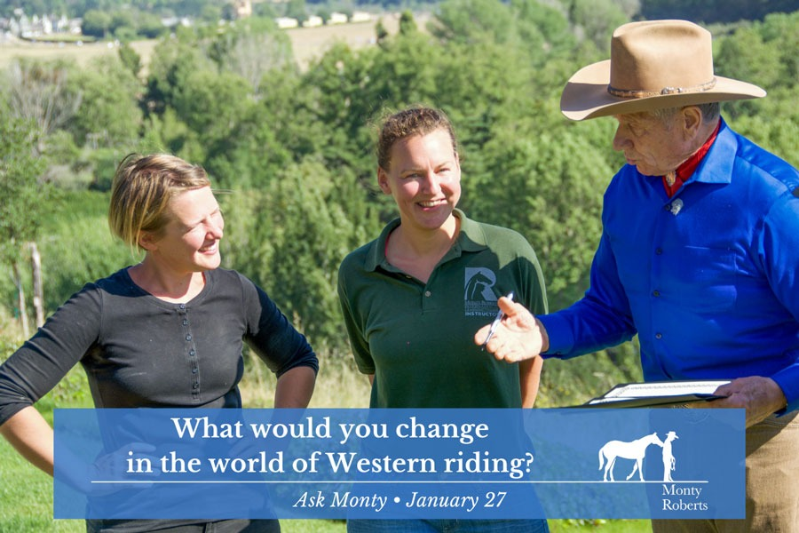 Ask Monty - What would you change in the world of Western riding?